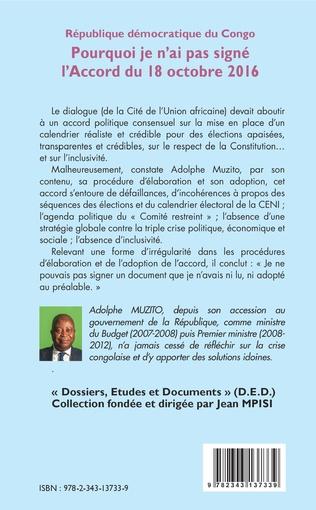 4eme République démocratique du Congo 13e tribune