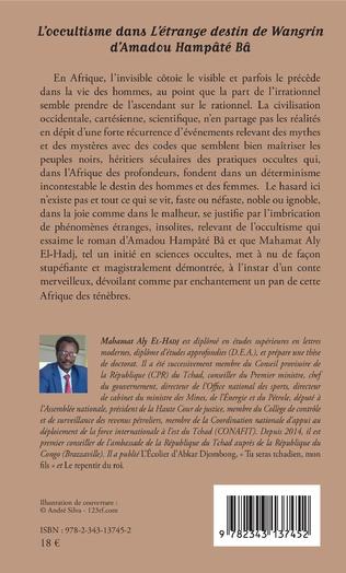 4eme L'occultisme dans L'étrange destin de Wangrin d'Amadou Hampâté Bâ