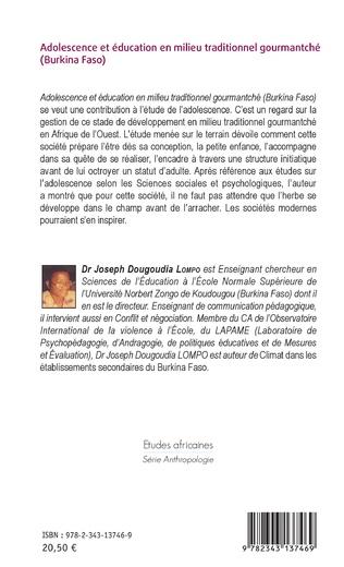 4eme Adolescence et éducation en milieu traditionnel gourmantché (Burkina Faso)