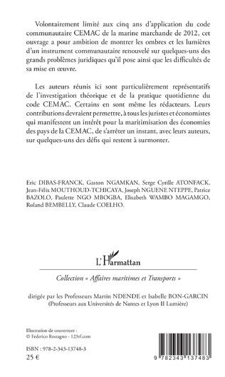 4eme Le code communautaire CEMAC de la marine marchande de 2012