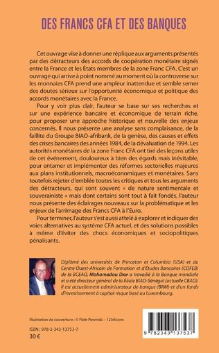 4eme Des francs CFA et des banques