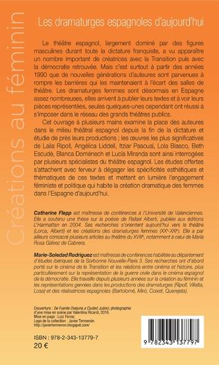 4eme Les dramaturges espagnoles d'aujourd'hui
