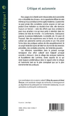 4eme Critique et autonomie