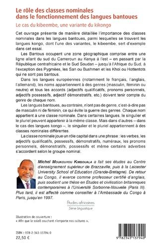 4eme Le rôle des classes nominales dans le fonctionnement des langues bantoues