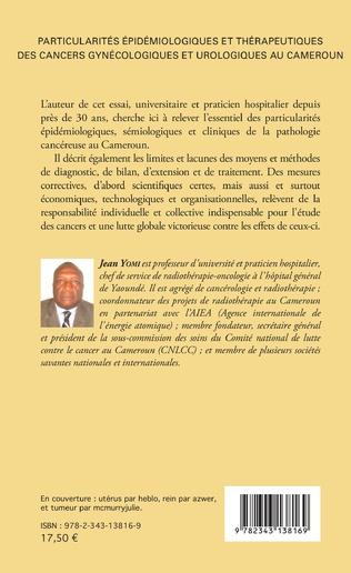 4eme Particularités épidémiologiques et thérapeutiques des cancers gynécologiques et urologiques au Cameroun