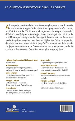 4eme La question énergétique dans les Orients