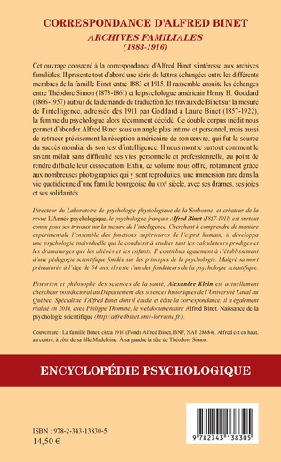 4eme Correspondance d'Alfred Binet