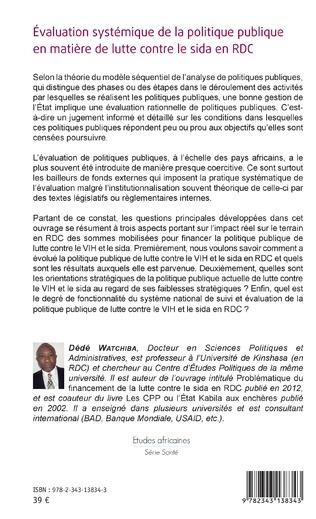 4eme Évaluation systémique de la politique publique en matière de lutte contre le sida en RDC