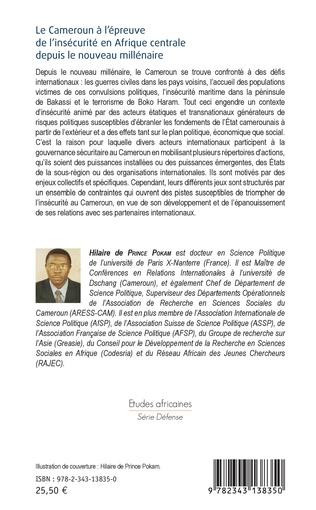 4eme Le Cameroun à l'épreuve de l'insécurité en Afrique centrale depuis le nouveau millénaire