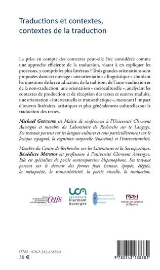 4eme Traductions et contextes, contextes de la traduction