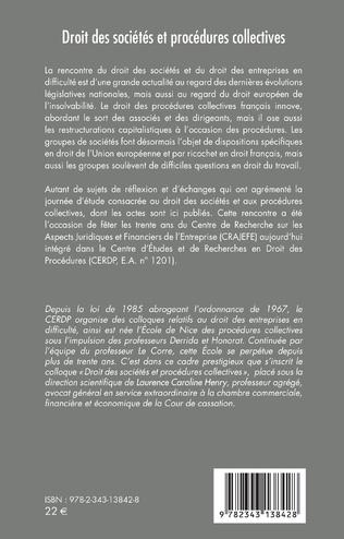 4eme Droit des sociétés et procédures collectives