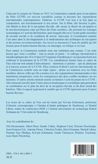 4eme La commission centrale pour la navigation du Rhin