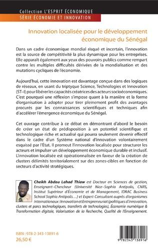 4eme Innovation localisée pour le développement économique du Sénégal