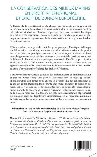 4eme La conservation des milieux marins en droit international et droit de l'Union européenne