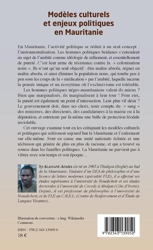 4eme Modèles culturels et enjeux politiques en Mauritanie
