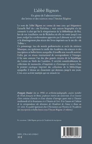4eme L'abbé Bignon