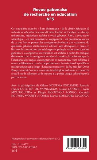 4eme Revue gabonaise de recherche en éducation N° 5