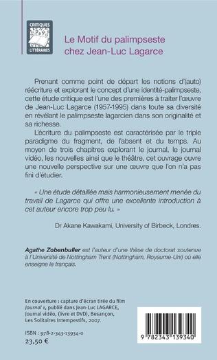 4eme Le motif du palimpseste chez Jean-Luc Lagarce