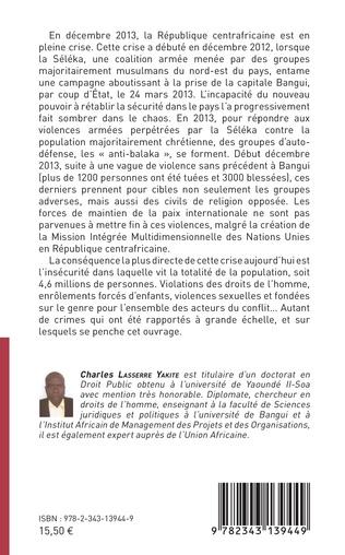 4eme Le respect de l'intégrité de la personne en République centrafricaine