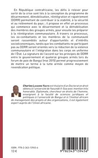 4eme Le désarmement des groupes armés en Centrafrique