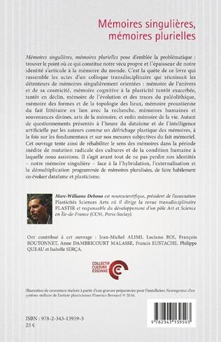 4eme Mémoires singulières, mémoires plurielles