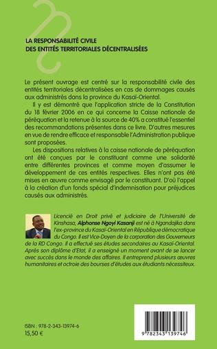 4eme La responsabilité civile des entités territoriales décentralisées