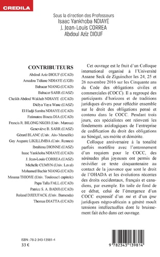 4eme Code des obligations civiles et commerciales du Sénégal (C.O.C.C): cinquante ans après