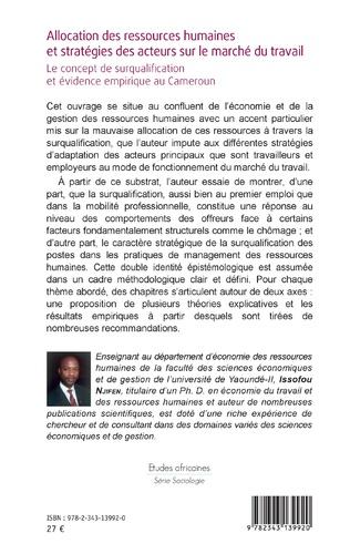 4eme Allocation des ressources humaines et stratégies des acteurs sur le marché du travail