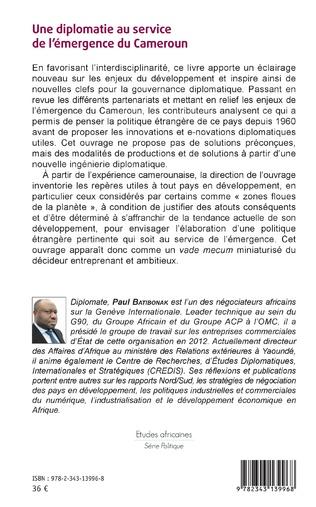 4eme Une diplomatie au service de l'émergence du Cameroun