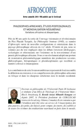 4eme Philosophies africaines, études postcoloniales et mondialisation néolibérale