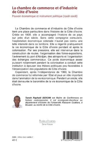 4eme La chambre de commerce et d'industrie de Côte d'Ivoire