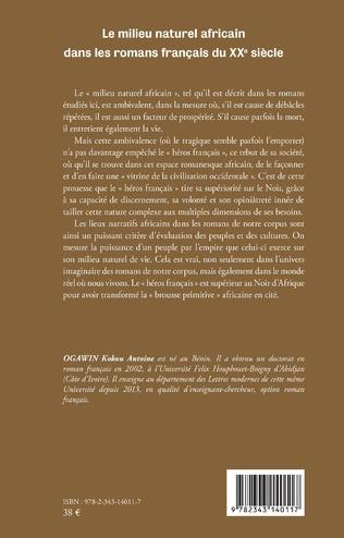 4eme Le milieu naturel africain dans les romans français du XXe siècle