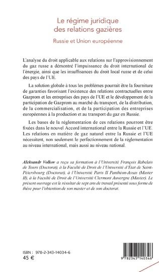 4eme Le régime juridique des relations gazières