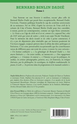 4eme Bernard Binlin Dadié Tome 1