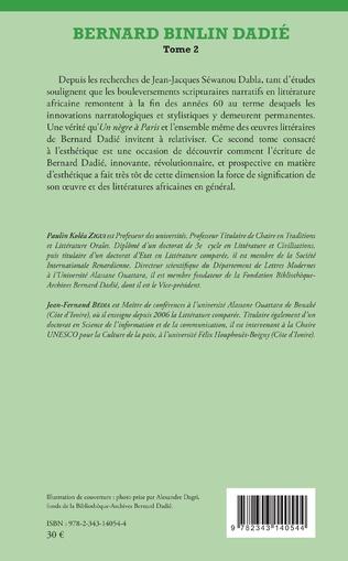 4eme Bernard Binlin Dadié Tome 2