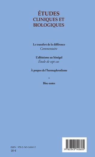 4eme Etudes cliniques et biologiques