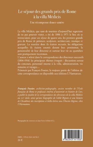 4eme Le séjour des grands prix de Rome à la villa Médicis