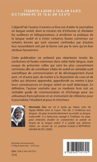 4eme Dictionnaire de Taalam Saate