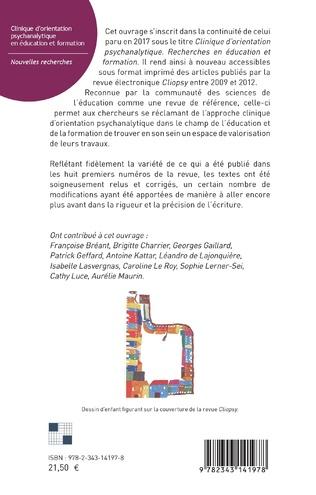 4eme Clinique d'orientation psychanalytique en éducation et formation