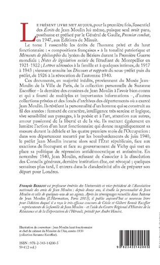 4eme Jean Moulin, Écrits et documents de Béziers à Caluire