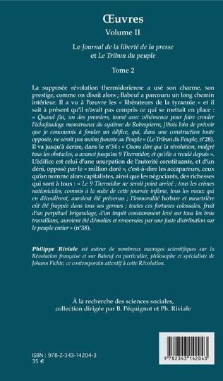4eme OEuvres (Grachus Babeuf) Volume II