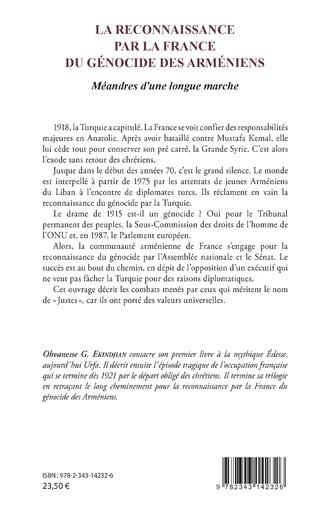 4eme La reconnaissance par la France du génocide arménien