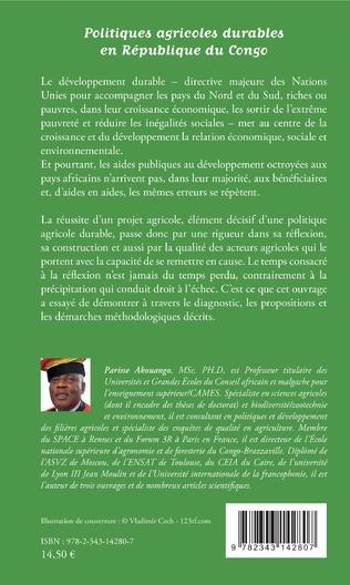 4eme Politiques agricoles durables en République du Congo