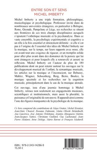 4eme Entre son et sens Michel Imberty