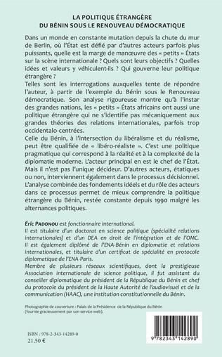4eme La politique étrangère du Bénin sous le renouveau démocratique