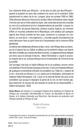 4eme Principes éthiques d'Albert Schweitzer en Afrique