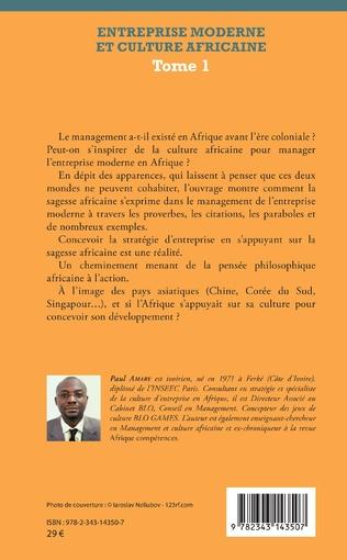 4eme Entreprise moderne et culture africaine