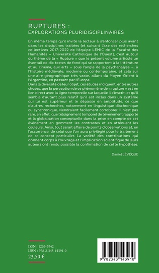 4eme Ruptures : explorations pluridisciplinaires