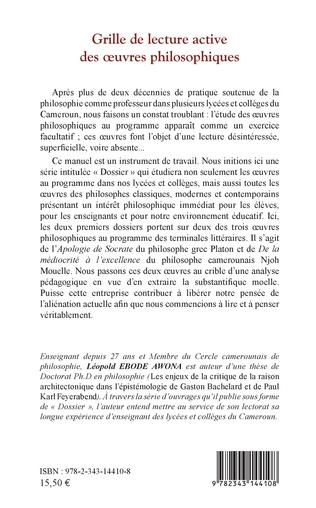 4eme Grille de lecture active des oeuvres philosophiques