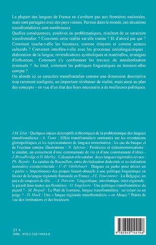 4eme De France et d'au-delà : les langues régionales transfrontalières